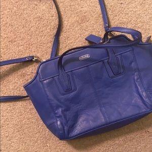 Coach blue bag